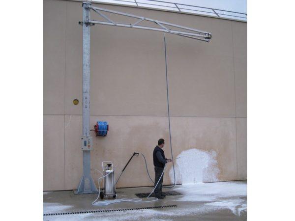 Aire de lavage mousse decontamination